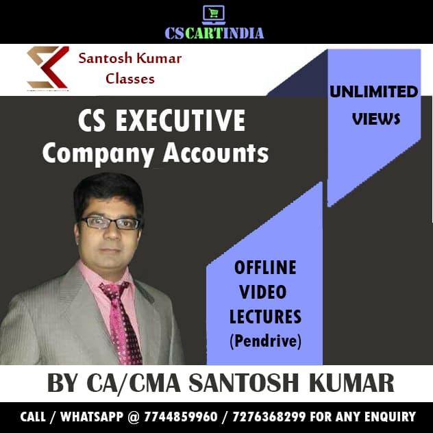 CS Executive Accounts Video Lectures (CAAP) By CA/CMA Santosh Kumar