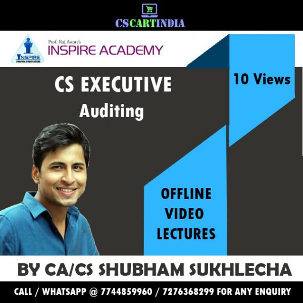 CS Executive Auditing Video Lectures by CA/CS Shubham Sukhlecha