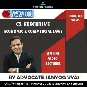 CS Executive ECL Lectures by Sanyog Vyas