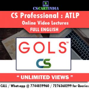 CS Professional Full English Advanced Tax Laws Online Lectures
