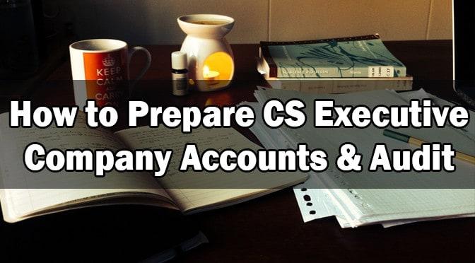 How to Prepare CS Executive Company Accounts