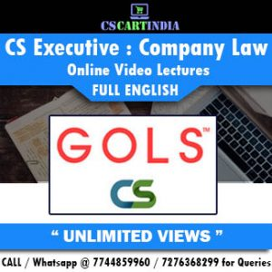 CS Executive Full English Company Law Online Lectures