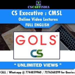 CS Executive Full English CMSL Online Lectures