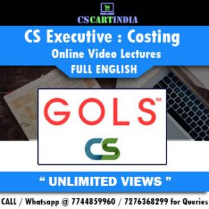 CS Executive Full English Cost Accounting Online Lectures