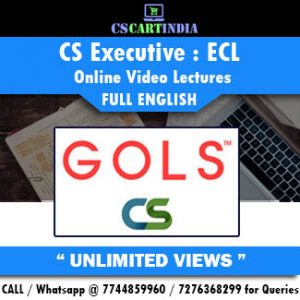 CS Executive Full English ECL Online Lectures