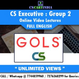 CS Executive Full English Group 2 Online Lectures