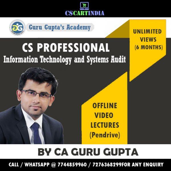 CS Professional ITSA Video Lectures by CA Guru Gupta