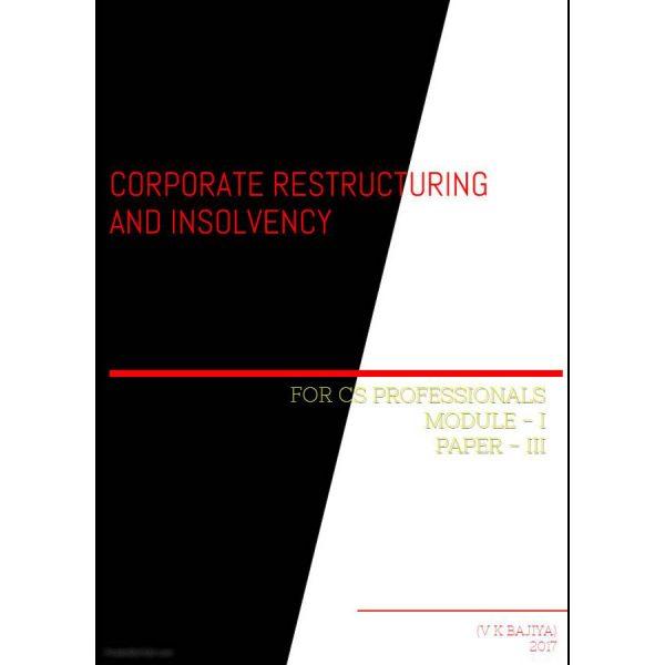 CS Professional Corporate Restructuring Revision Book by Adv VINOD BAJIYA