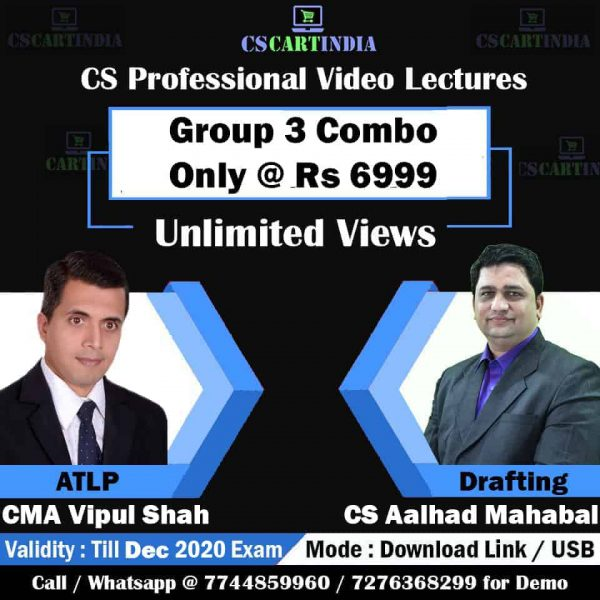 CS Professional Group 3 Video Classes Combo