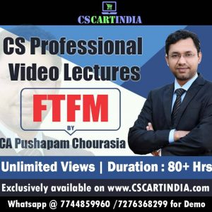 CS Professional FTFM Video Lecture