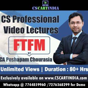 CS Professional FTFM Video Lecture
