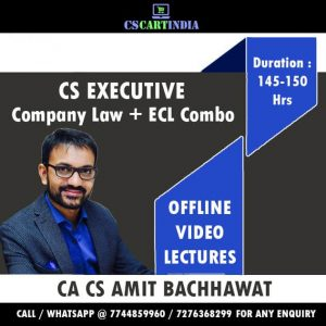 Amit Bachhawat CS Executive Company Law ECL Video Lectures
