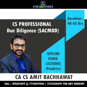 Amit Bachhawat CS Professional Due Diligence Video Lectures