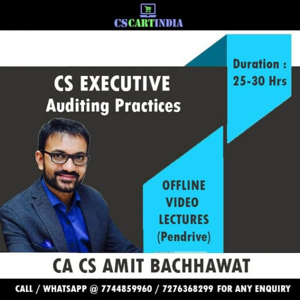 Amit Bachhawat CS Executive Auditing Video Lectures