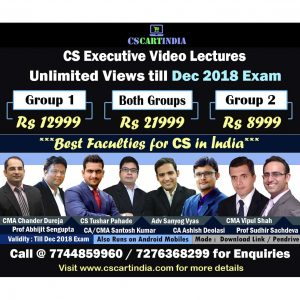 CS Executive Video Lectures Both Groups Combo