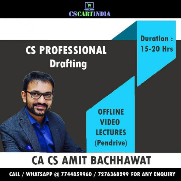 Amit Bachhawat CS Professional Drafting Video Lectures