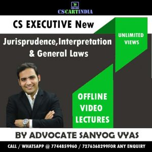 Sanyog Vyas Jurisprudence Interpretation General Laws Video Lectures