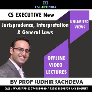 Prof Sudhir Sachdeva Jurisprudence Interpretation General Laws Video Lectures