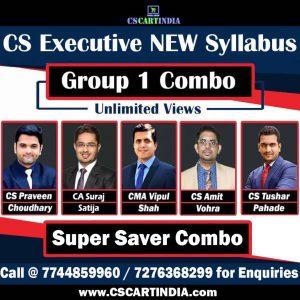 CS Executive New Syllabus Group 1 Video Lectures Combo