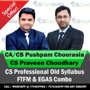 CS Professional FTFM and Ethics Video Lectures Combo