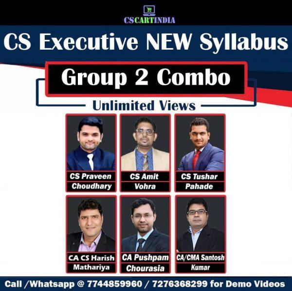 CS Executive New Syllabus Group 2 Video Lectures Combo