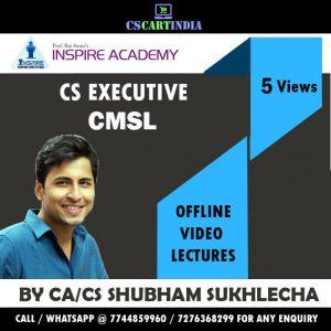 Shubham Sukhlecha CS Executive CMSL Video Lectures