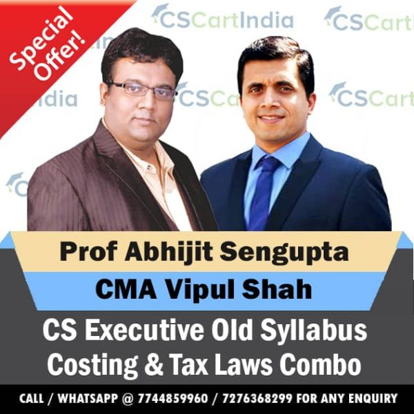 CS Executive Cost and Tax Laws Video Lectures Combo