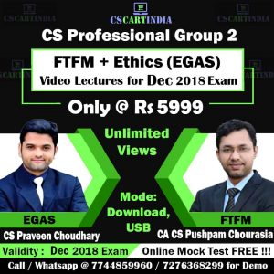 CS Executive FTFM and Ethics Video Lectures Combo