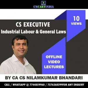 Nilamkumar Bhandari CS Executive ILGL Video Lectures