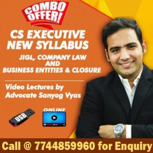 Sanyog Vyas CS Executive New Syllabus Group 1 Video Lectures