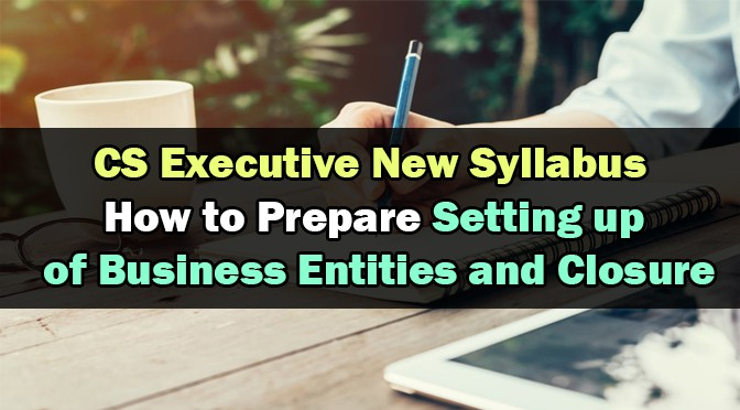 How to Prepare CS Executive Setting Up of Business Entities