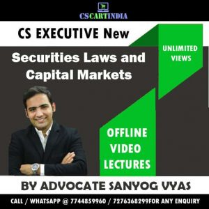 Sanyog Vyas CS Executive Securities Laws Capital Market