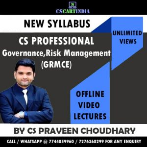 CS Professional Governance Risk Management Compliance Ethics Video Lectures