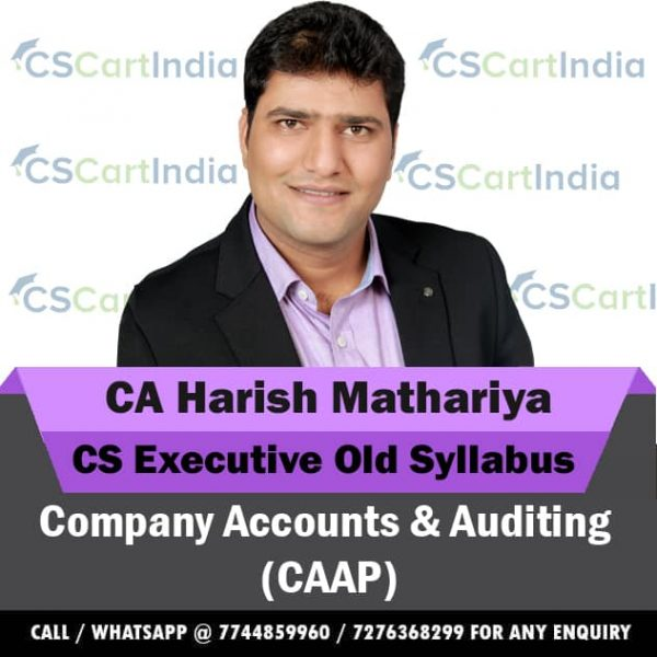 Harish Mathariya CS Executive Company Accounts Video Lectures
