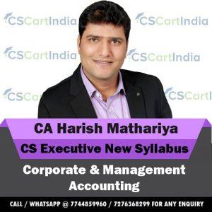 Harish Mathariya CS Executive Corporate Management Accounting Video Lectures