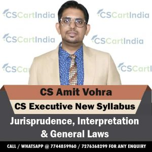 CS Amit Vohra CS Executive Jurisprudence Video Lectures ( JIGL )