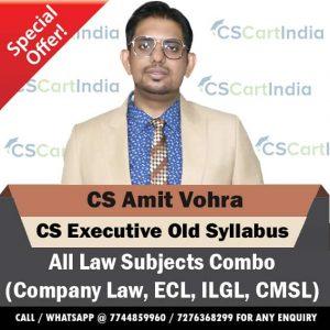 CS Amit Vohra CS Executive Old Syllabus Video Lectures Combo