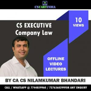 Nilamkumar Bhandari CS Executive Company Law Video Lectures
