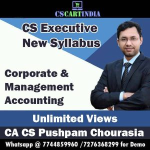 Pushpam Chourasia CS Executive Corporate Management Accounting Video Lectures