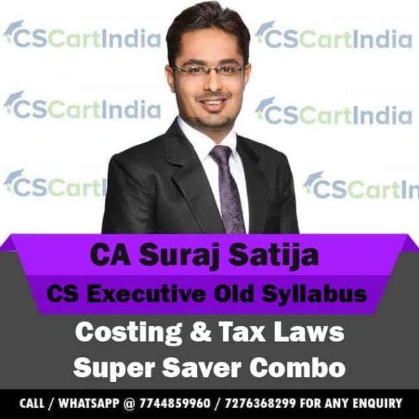 CS Executive Costing Tax Laws Video Lectures