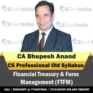 CA Bhupesh Anand CS Professional FTFM Video Lectures