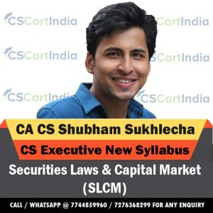 Shubham Sukhlecha CS Executive SLCM Video Lectures