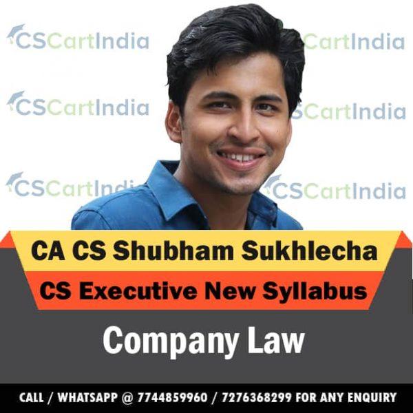 Shubham Sukhlecha CS Executive Company Law Video Lectures