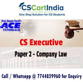 Ace Tutorials CS Executive Company Law Video Lectures