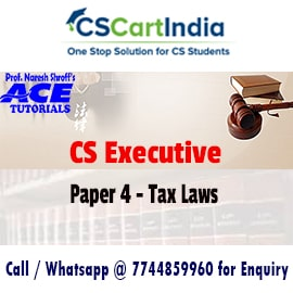 Ace Tutorials CS Executive Tax Laws Video Lectures