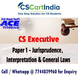 Ace Tutorials CS Executive Jurisprudence Video Lectures