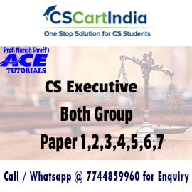CS Executive Online Classes All subjects by Ace Tutorials
