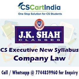 J K Shah Classes CS Executive Company Law Video Classes