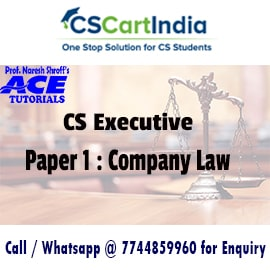 CS Executive Company Law Online Video Lectures