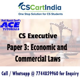 CS Executive Economic and Commercial Laws Online Video Lectures